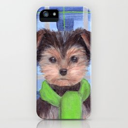 Yorkie Poo in Scarf iPhone Case