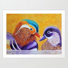 Lovers | Amants Art Print