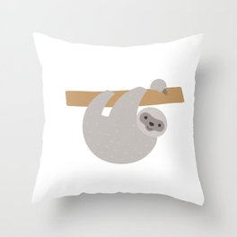 Cute Sloth Running Team Pun Sloth Lovers Funny Throw Pillow
