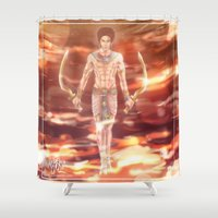 kpop Shower Curtains featuring + Wonder + by MitsuBlinger
