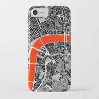 london map iPhone & iPod Cases featuring London Map by Dizzy Moments