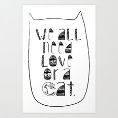 Le Chat. Art Print