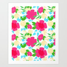 03 Pattern of Flowers Art Print