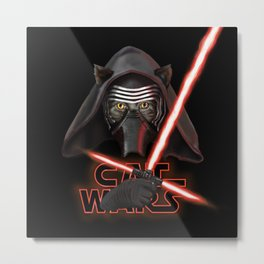 Cat Wars Kylo Ren Metal Print
