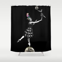 balance Shower Curtains featuring Balance by mentalembellisher