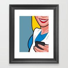The secret life of heroes - AlicePhone Framed Art Print