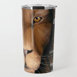 Lion - Proverbs 28, 1 Travel Mug