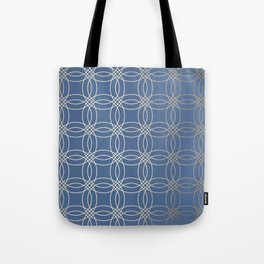 Simply Vintage Link in White Gold Sands and Aegean Blue Tote Bag