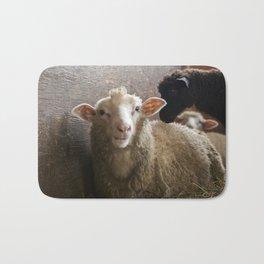 Cute Smiling Sheep Photo Bath Mat