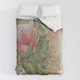 Desert Cactus Flowers Comforters