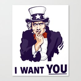 SEXY UNCLE SAM Canvas Print