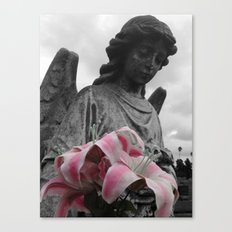 Angel Holding Flowers #2 Canvas Print