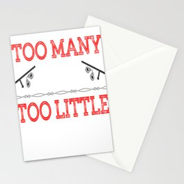 """""""Too Many Cops Too Little Justice"""" tee design for cool honest and reliable police officers like you! Stationery Cards"""
