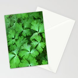 Dewy Leaves Stationery Cards