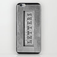 letters iPhone & iPod Skins featuring Letters by Shy Photog