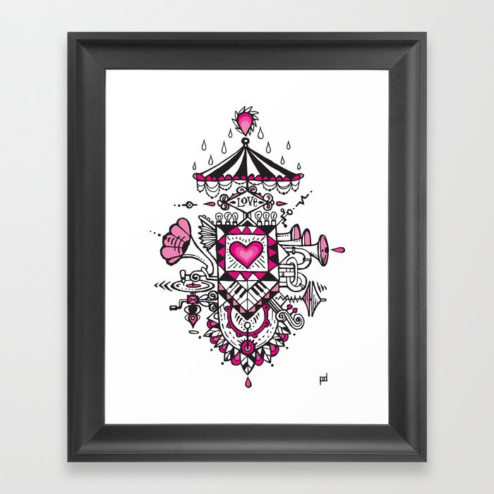 LOVE grows calliope Framed Art Print