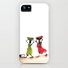 Akili and Leiza helping their father iPhone Case