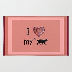 I Heart My Cat Rug