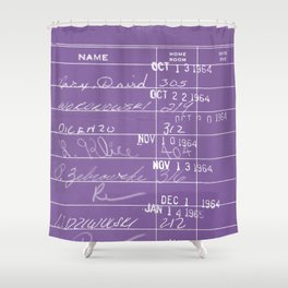Library Card 23322 Negative Purple Shower Curtain