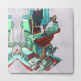 Abstract Drill Press 315. Metal Print