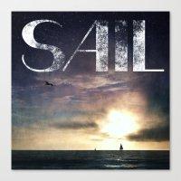 sail Canvas Prints featuring SAIL by Grafikki Shop