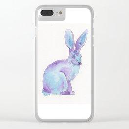 Jack Rabbit Purple Clear iPhone Case