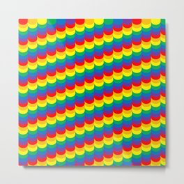 Rainbow Scales Metal Print