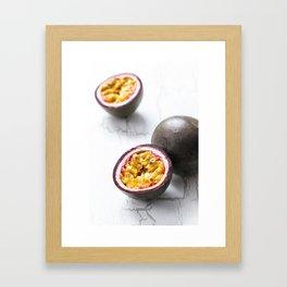 Passionfruit Framed Art Print