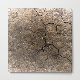 cracked ground Metal Print