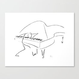 Keith Jarrett – Improvisations in Jazz Canvas Print