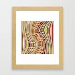 Old Skool Stripes - Flow Framed Art Print
