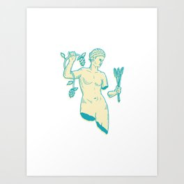 Beer Goddess Art Print