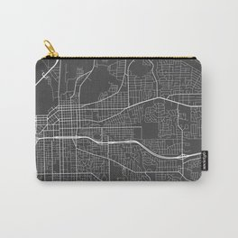 Montgomery Map, Alabama USA - Charcoal Portrait Carry-All Pouch
