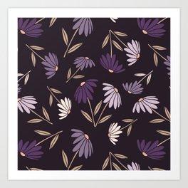 Garden Flowers Style A Art Print
