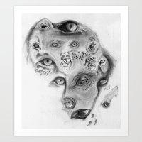 Wild eyes of Africa Art Print