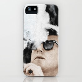 Cigar Smoker Cigar Lover JFK Gifts iPhone Case