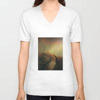 portal V-neck T-shirts featuring portal by Dirk Wuestenhagen Imagery