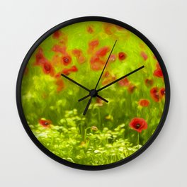 Poppyflower I Wall Clock