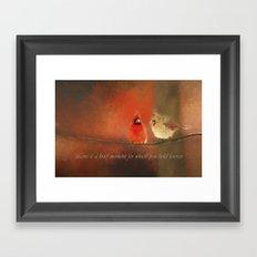 Winter Love2 Framed Art Print