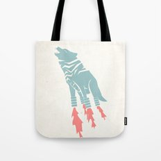 Robot Wolf-Tiger from Outer Space Tote Bag