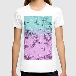 Mermaid Lady Glitter Stars #3 #decor #art #society6 T-shirt