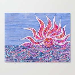 Hectic Sunset Canvas Print