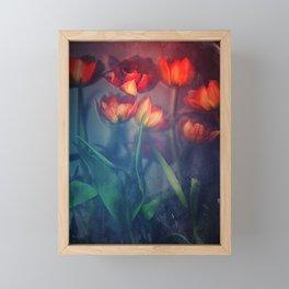 Orange Tulips Framed Mini Art Print