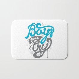 Boys Don't Cry Bath Mat