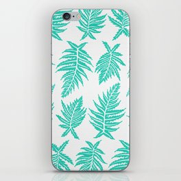 Inked Ferns – Turquoise Palette iPhone Skin