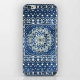 Old Bookshop Magic Mandala in Blue iPhone Skin