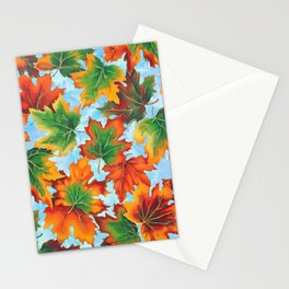 Autumn maple leaves II Stationery Cards