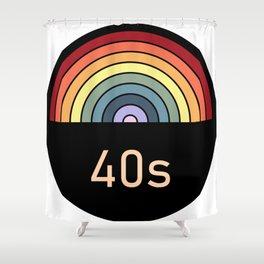 Retro rainbow 40s Shower Curtain