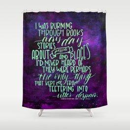 Burning Through Books (ACOMAF) Shower Curtain