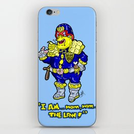 Judge Dredd as portrayed DEADFULLY my Chief Wiggum from The Simpsons iPhone Skin